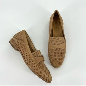 Corso Como Carlynee Tan Slip On Perforated Loafer